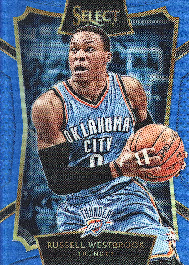 2015-16 Select Concourse Prizms Blue #59 Russell Westbrook