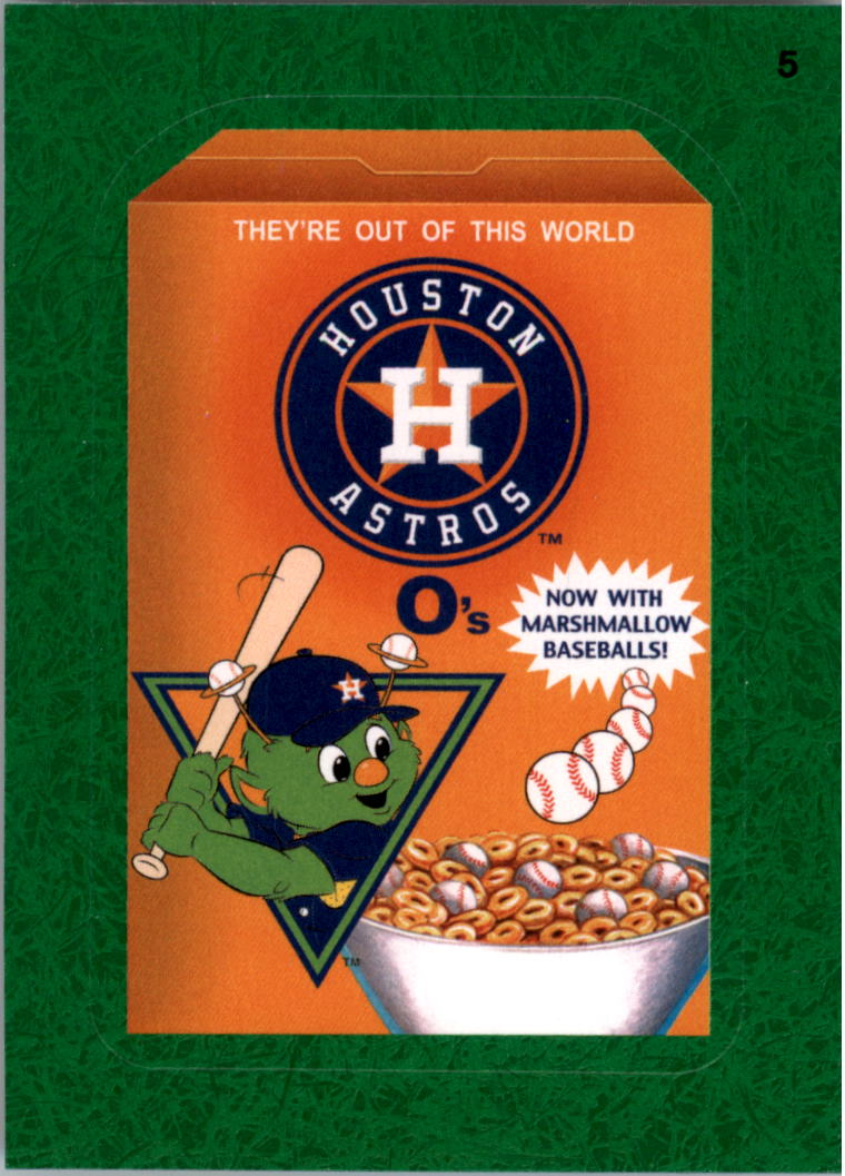 2016 Wacky Packages MLB Grass #5 Astros O�s