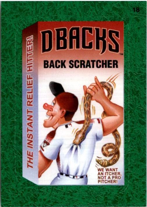2016 Wacky Packages MLB Grass #18 Diamondbacks Back Scratcher