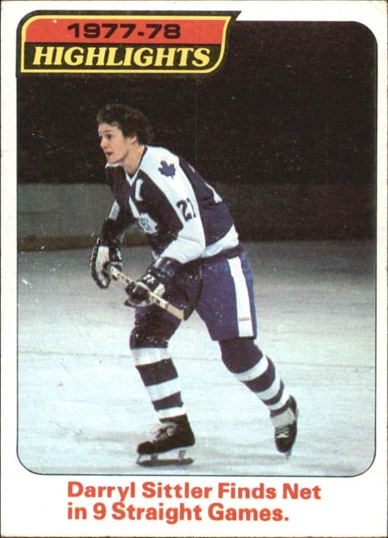 1978-79 Topps #4 Darryl Sittler HL