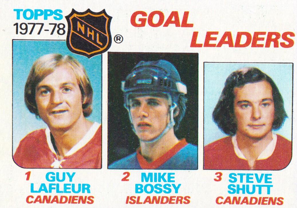 1978-79 Topps #63 Goal Leaders/Guy Lafleur/Mike Bossy/Steve Shutt