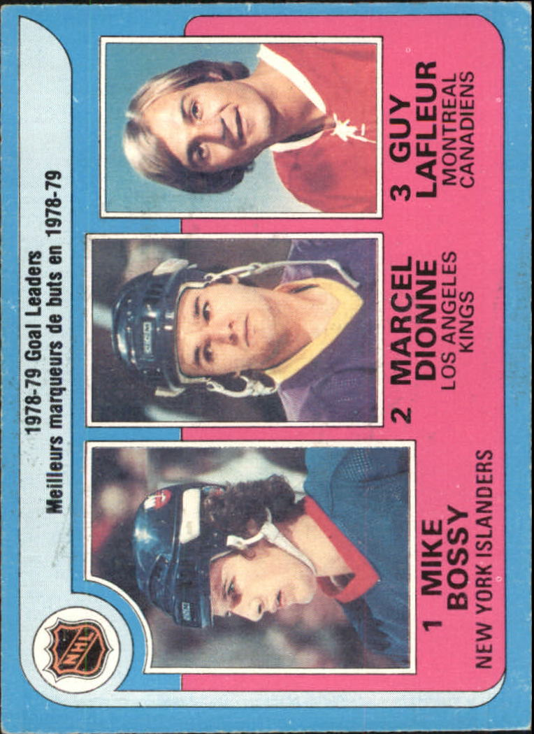 1979-80 O-Pee-Chee #1 Goal Leaders/Mike Bossy/Marcel Dionne/Guy Lafleur
