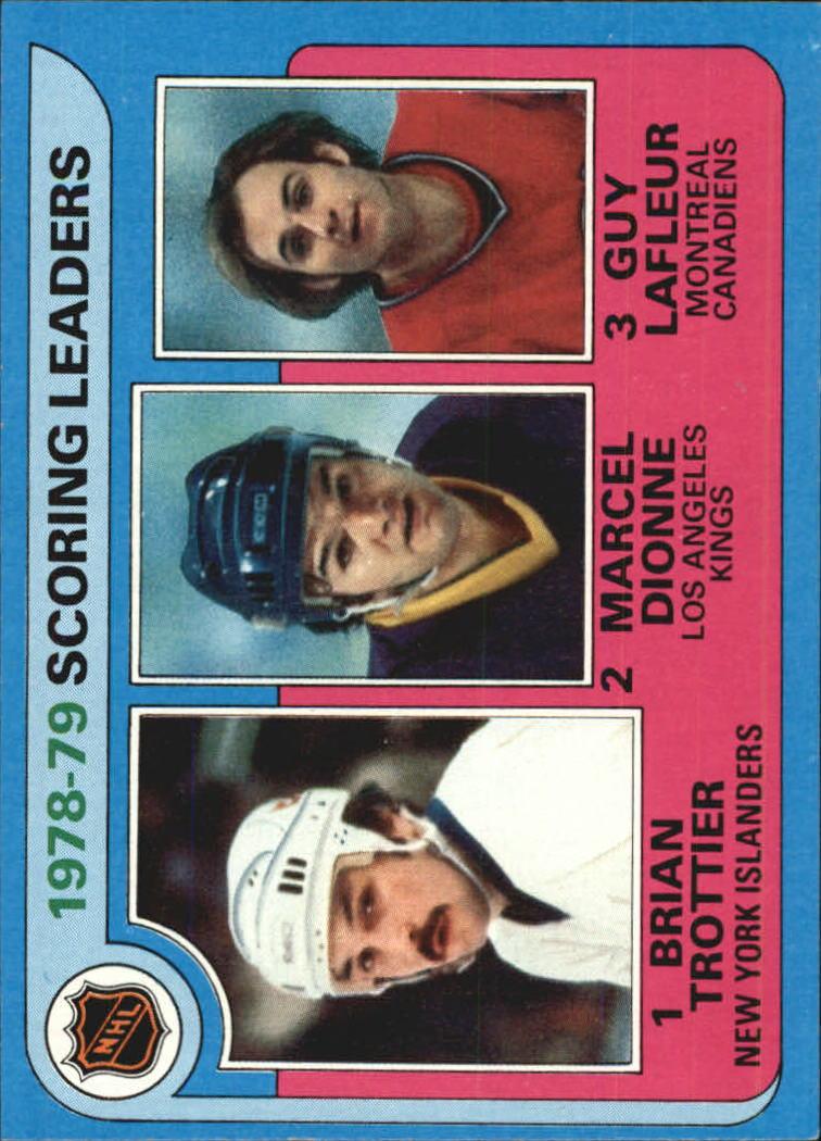 1979-80 Topps #3 Scoring Leaders/Bryan Trottier/Marcel Dionne/Guy Lafleur