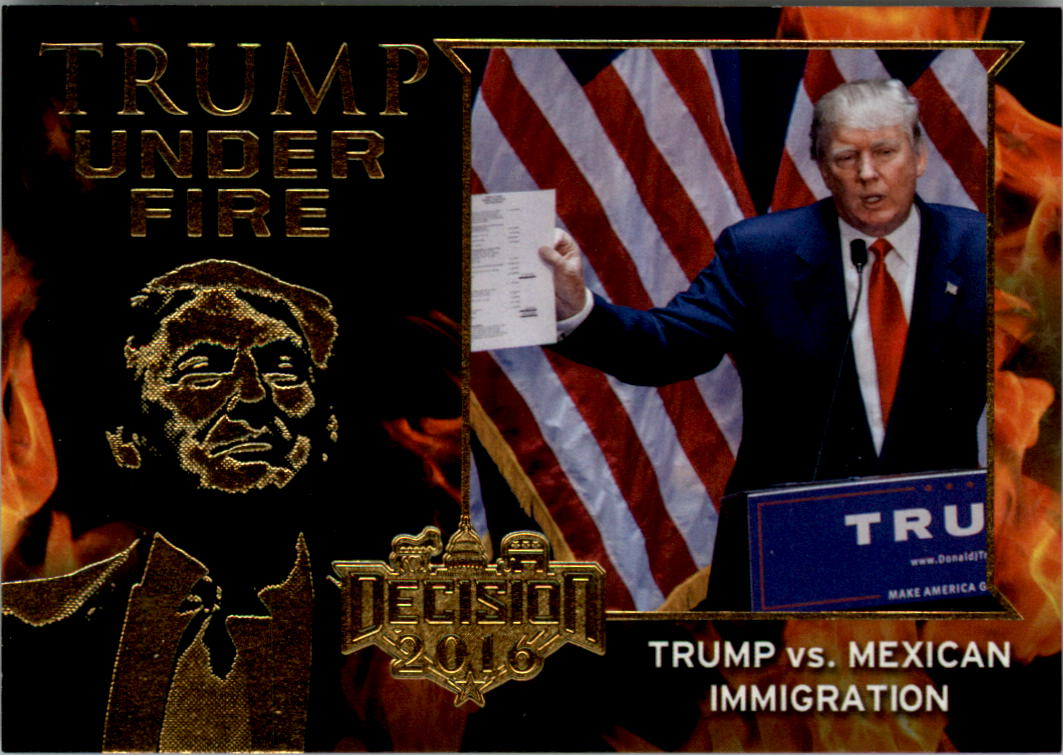 DECISION 2016 BLUE FOIL TRUMP UNDER FIRE TUF17 TRUMP SAYS HE COULD SHOOT AND
