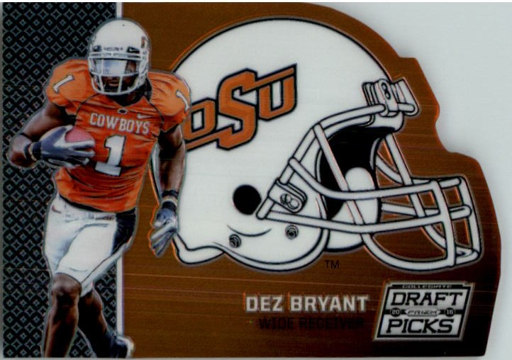 2016 Panini Prizm Draft Picks Helmet Die Cut 16 Dez Bryant