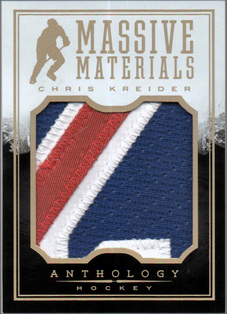 2015-16 Panini Anthology Massive Materials Prime #37 Chris Kreider/49