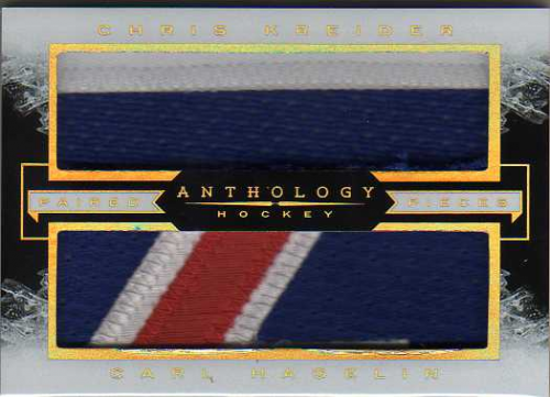 2015-16 Panini Anthology Paired Pieces Prime #23 Carl Hagelin/Chris Kreider/49