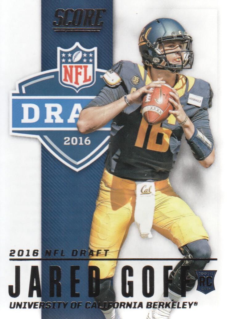 2016 Score Football NFL Draft #2 Jared Goff California ...