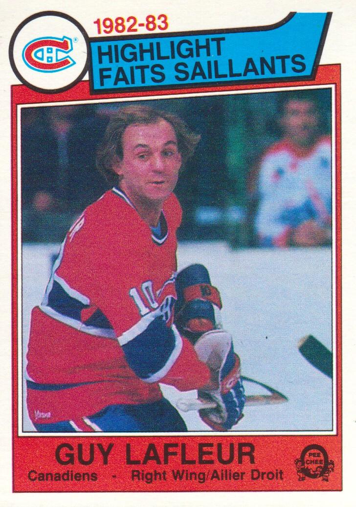 1983-84 O-Pee-Chee #183 Guy Lafleur HL