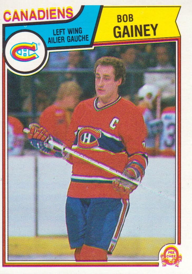 1983-84 O-Pee-Chee #187 Bob Gainey