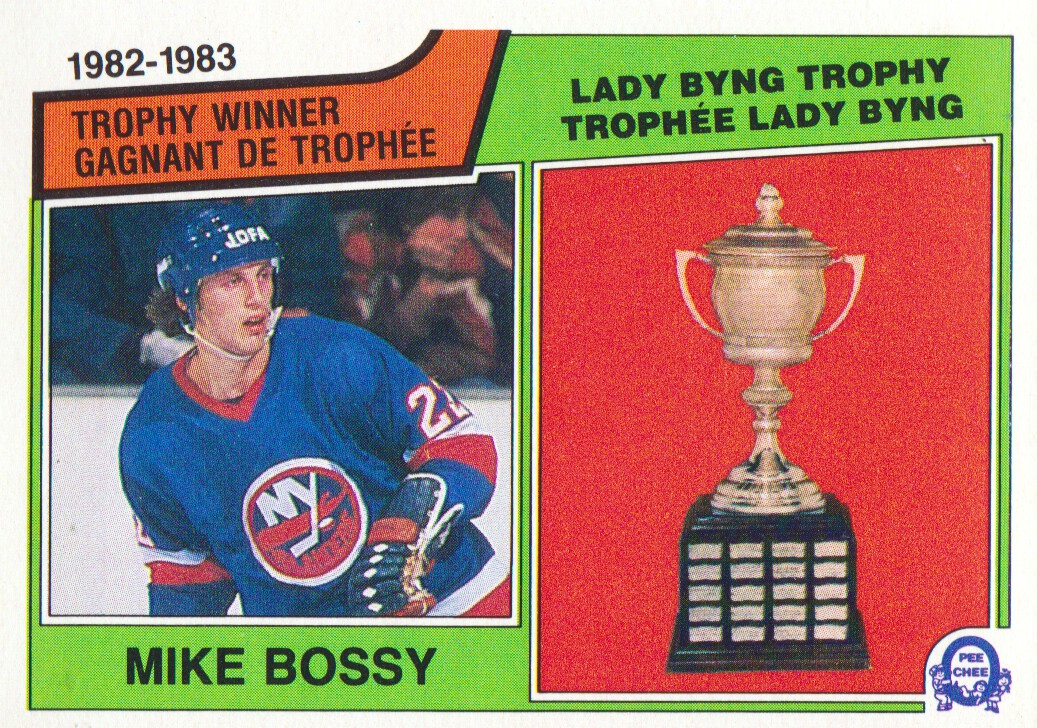 1983-84 O-Pee-Chee #205 Mike Bossy Byng
