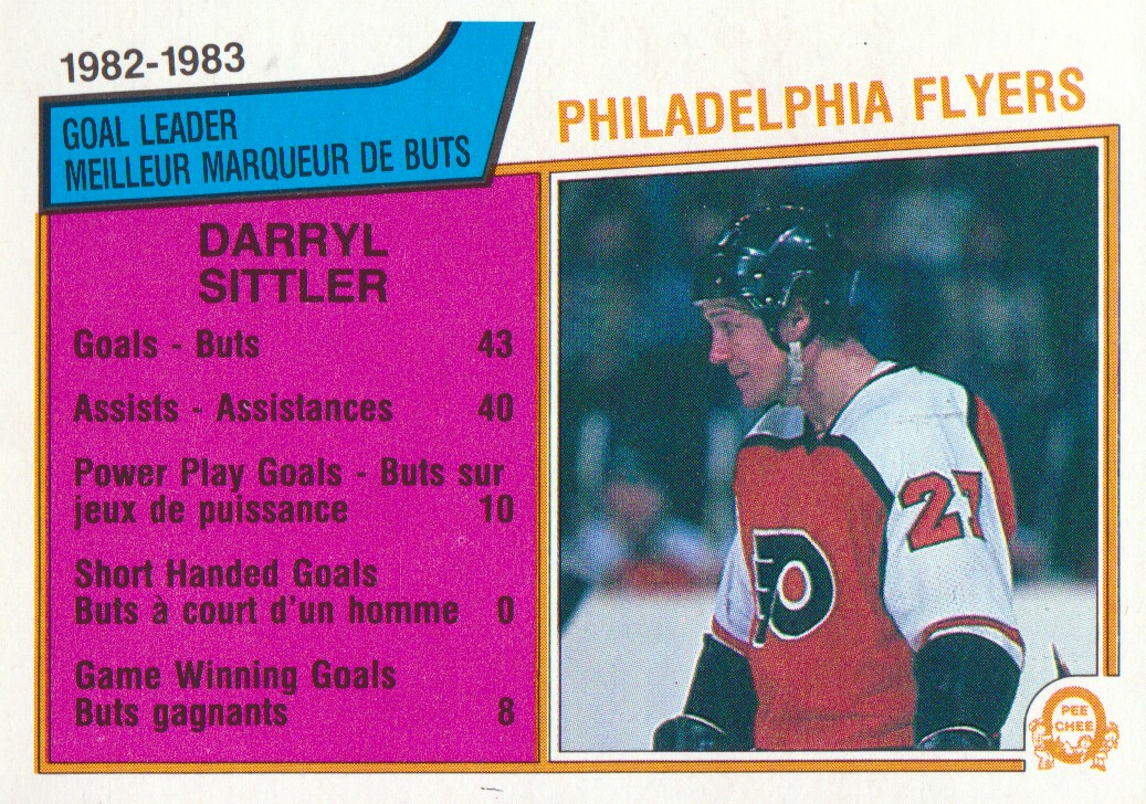 1983-84 O-Pee-Chee #257 Darryl SittlerSL
