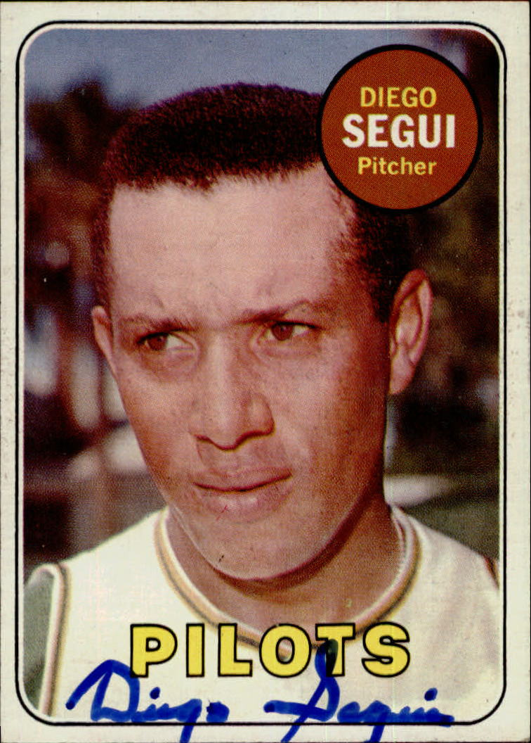Diego Segui Signed 1969 Topps #511  Auto