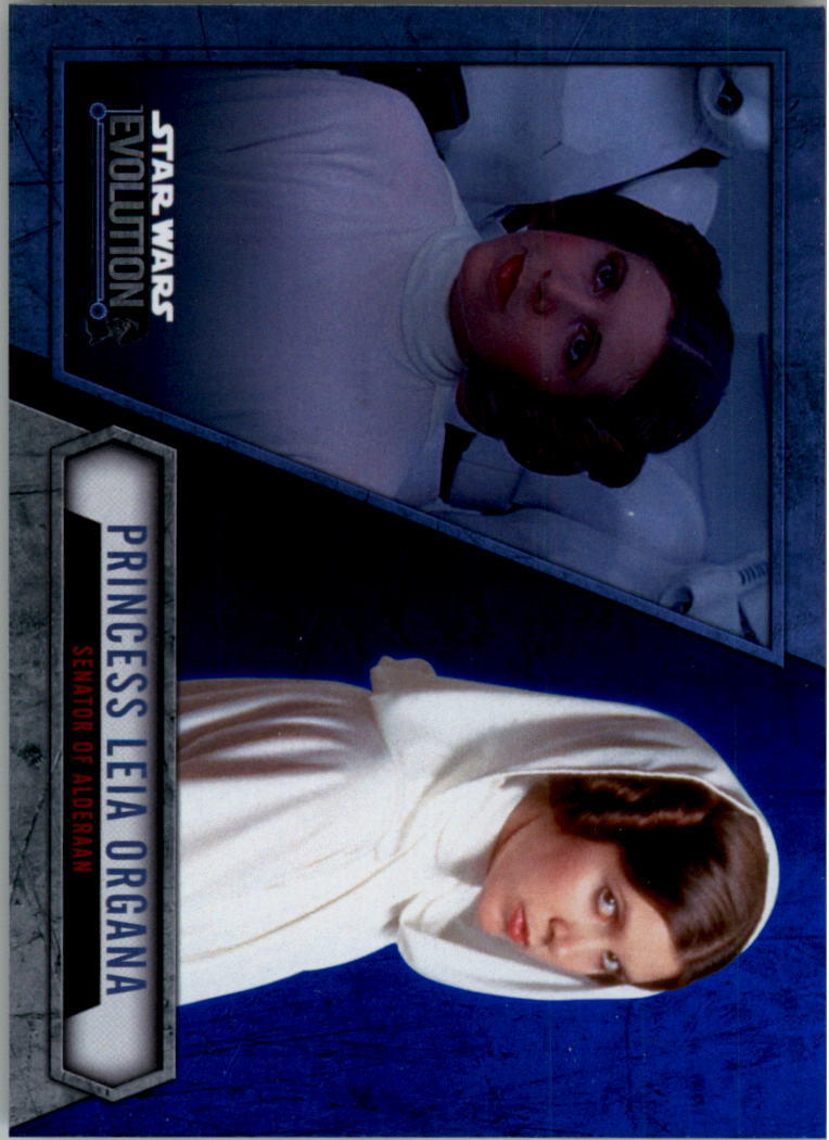 2016 Star Wars Evolution Lightsaber Blue #34 Princess Leia Organa/Senator of Alderaan