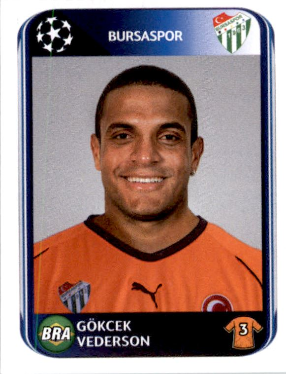 Panin Champions League cards 2010//2011 10 11-bursaspor-Top-Mint