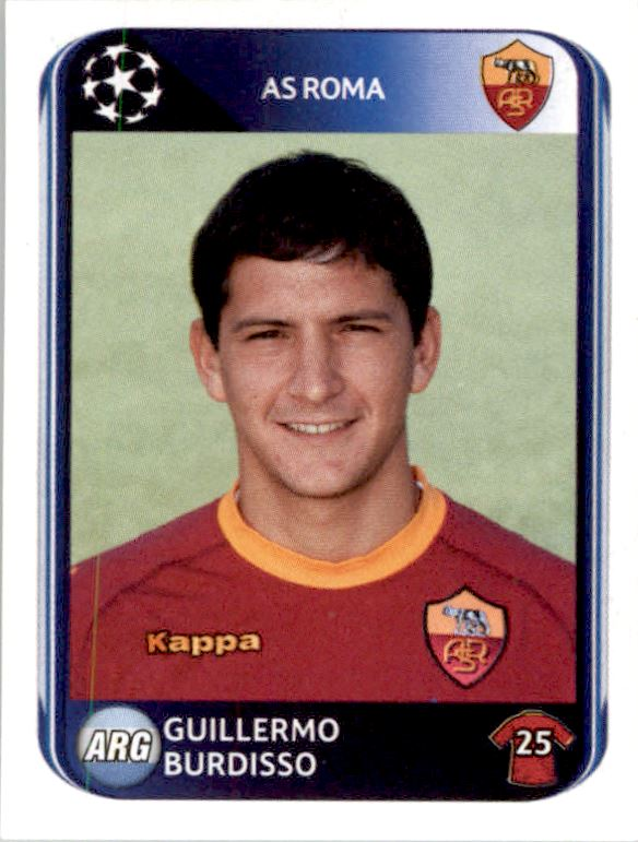 Panini 300 Nicolas Burdisso AS Roma UEFA CL 2010//11