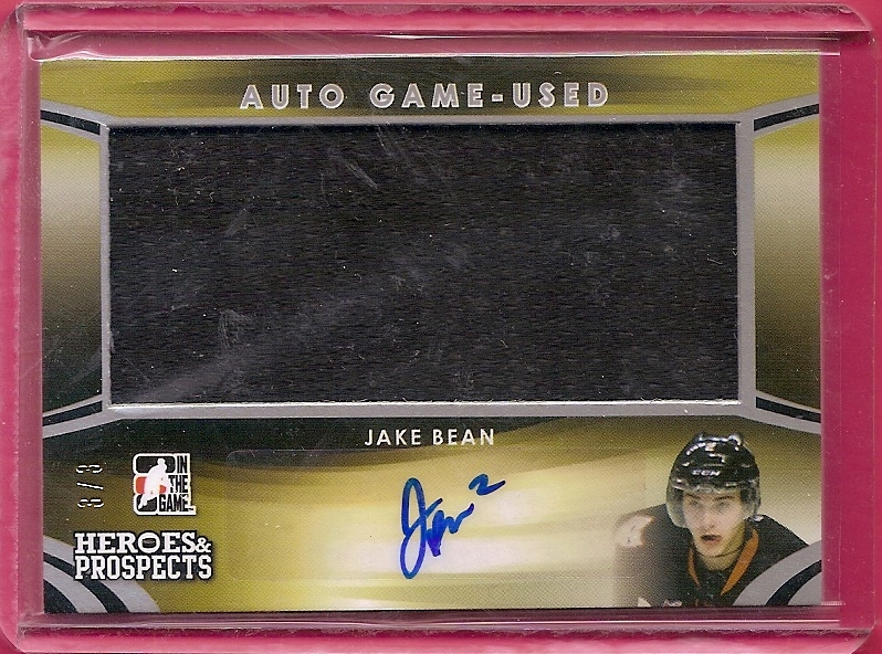 2015-16 ITG Heroes and Prospects Jersey Autographs Silver #AGJB1 Jake Bean/3
