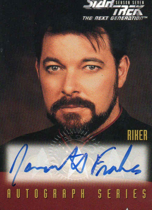 1994-99 Star Trek The Next Generation Episode Collection Autographs #A2 Jonathan Frakes as Will Riker