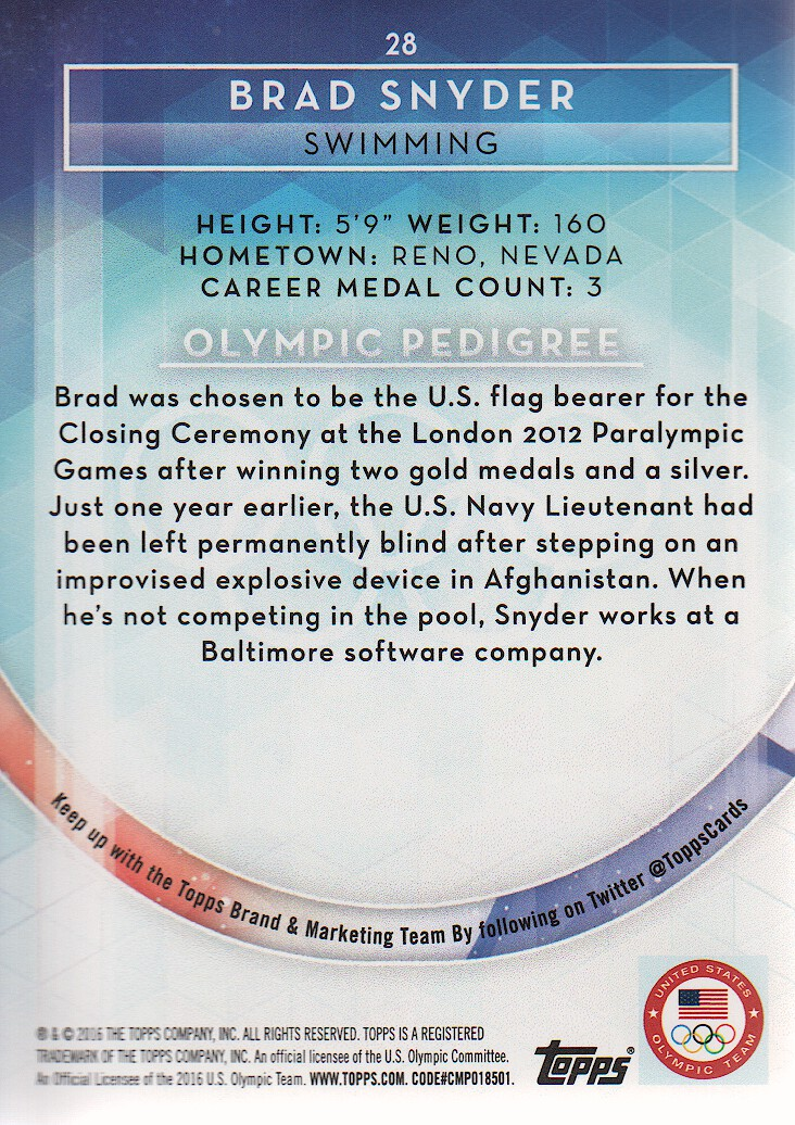 2016-Topps-U-S-Olympic-Team-Trading-Cards-Pick-From-List thumbnail 112