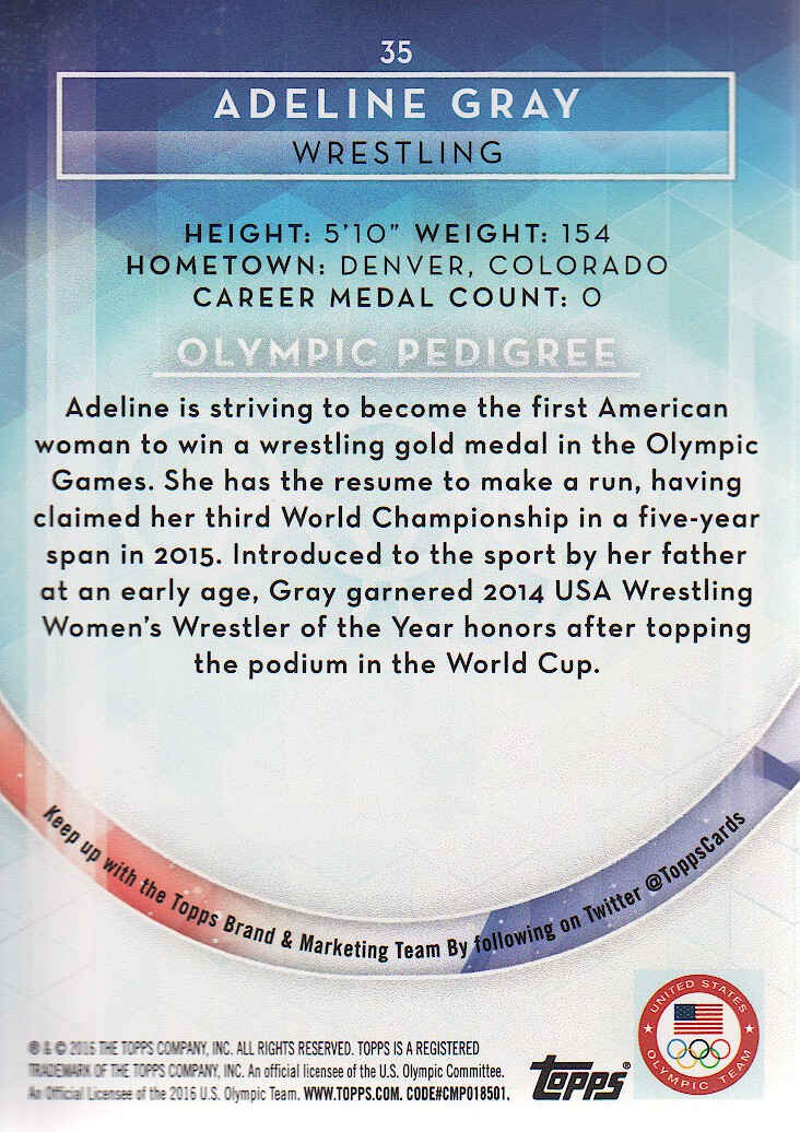 2016-Topps-U-S-Olympic-Team-Trading-Cards-Pick-From-List thumbnail 126