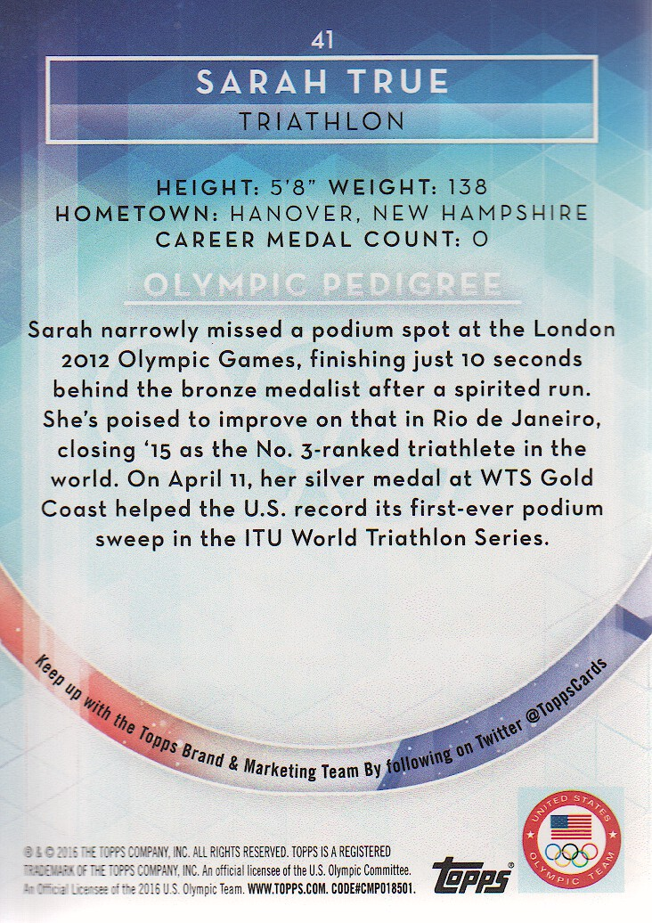 2016-Topps-U-S-Olympic-Team-Trading-Cards-Pick-From-List thumbnail 134