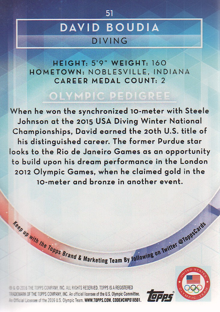 2016-Topps-U-S-Olympic-Team-Trading-Cards-Pick-From-List thumbnail 154