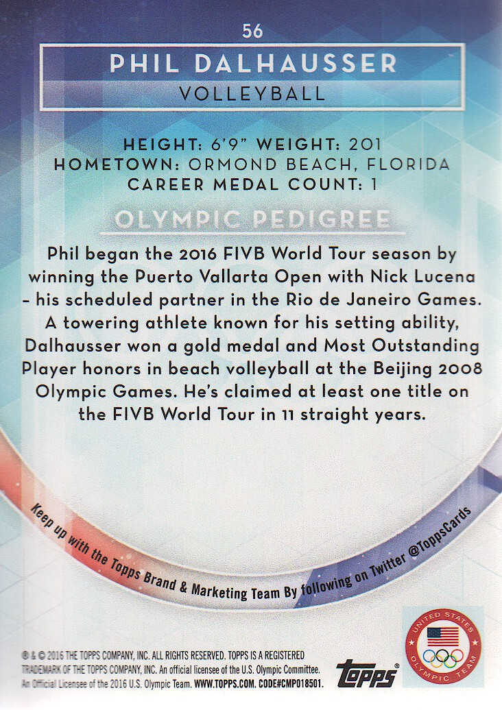 2016-Topps-U-S-Olympic-Team-Trading-Cards-Pick-From-List thumbnail 164