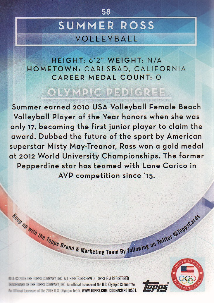 2016-Topps-U-S-Olympic-Team-Trading-Cards-Pick-From-List thumbnail 168