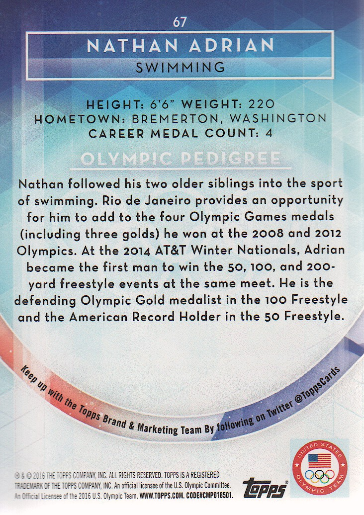 2016-Topps-U-S-Olympic-Team-Trading-Cards-Pick-From-List thumbnail 186