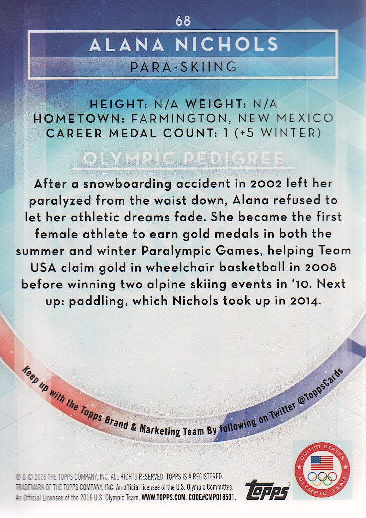 2016-Topps-U-S-Olympic-Team-Trading-Cards-Pick-From-List thumbnail 188