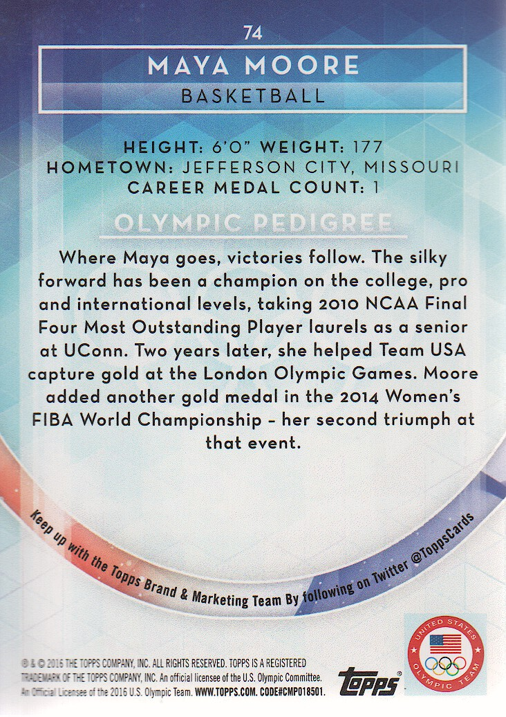 2016-Topps-U-S-Olympic-Team-Trading-Cards-Pick-From-List thumbnail 200