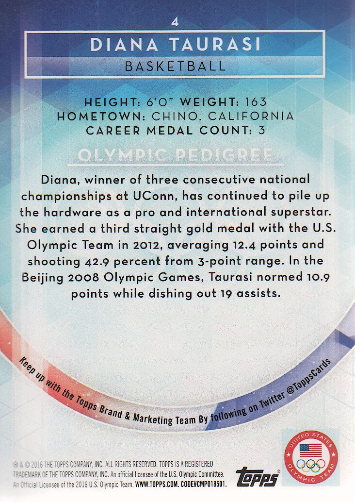 2016-Topps-U-S-Olympic-Team-Trading-Cards-Pick-From-List thumbnail 206