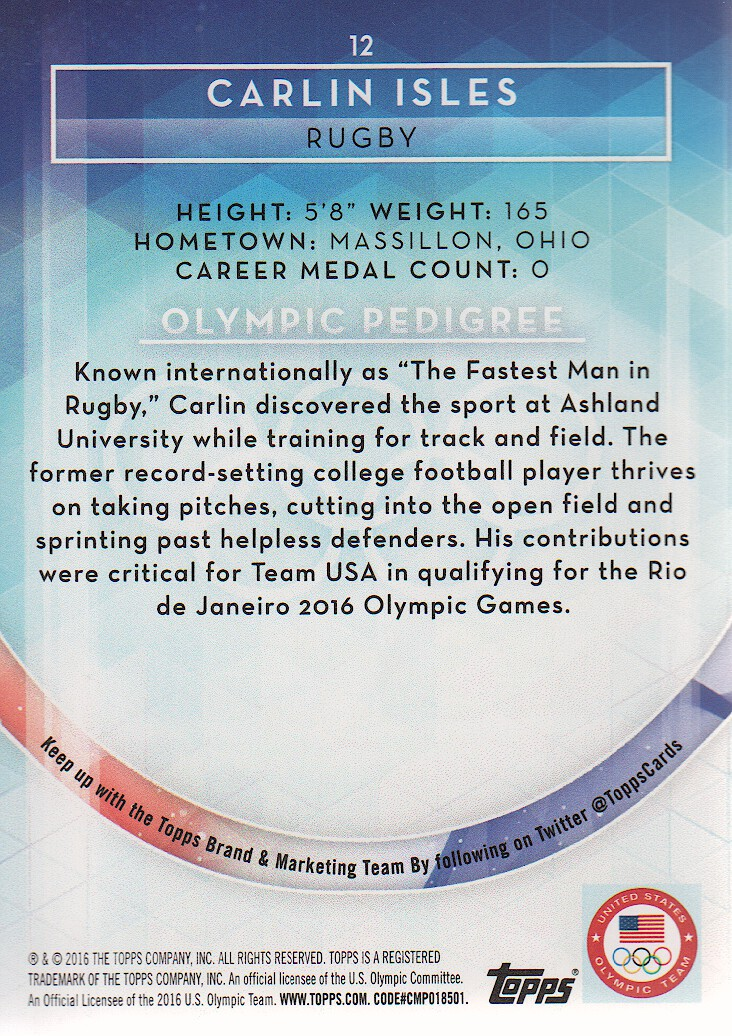 2016-Topps-U-S-Olympic-Team-Trading-Cards-Pick-From-List thumbnail 222