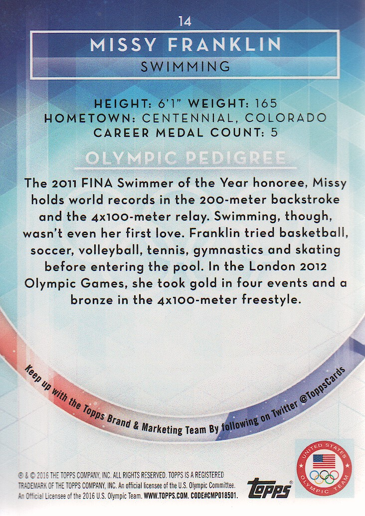 2016-Topps-U-S-Olympic-Team-Trading-Cards-Pick-From-List thumbnail 226