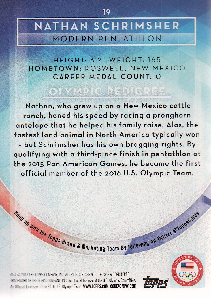 2016-Topps-U-S-Olympic-Team-Trading-Cards-Pick-From-List thumbnail 236