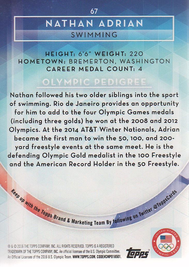 2016-Topps-U-S-Olympic-Team-Trading-Cards-Pick-From-List thumbnail 324