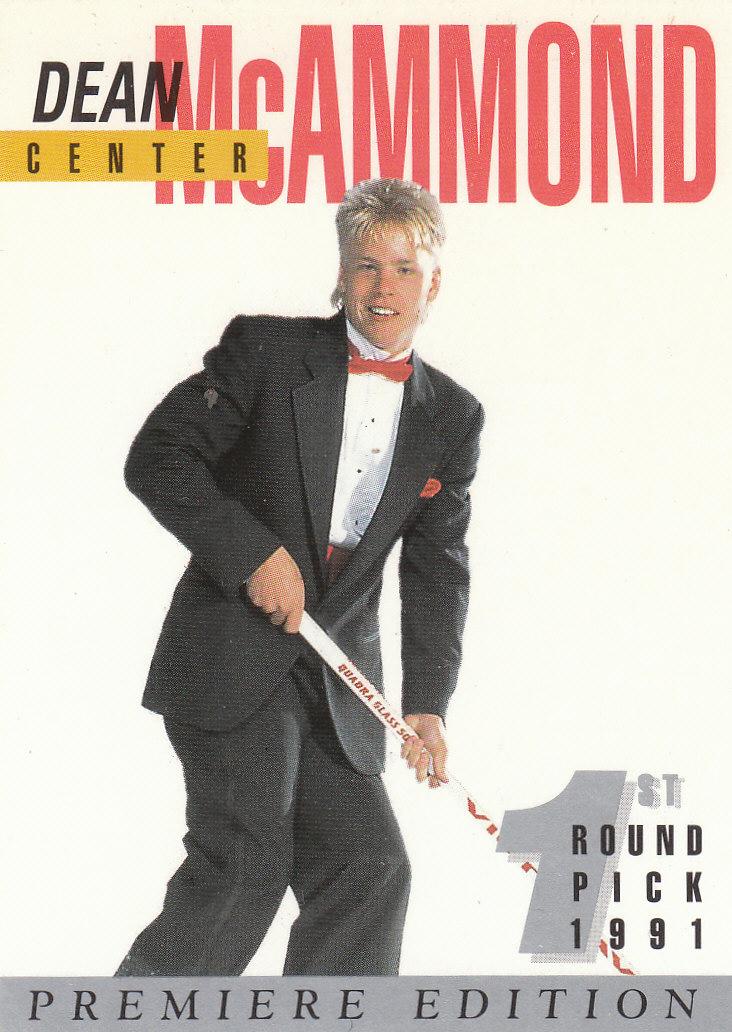 1991 Arena Draft Picks Autographs #17 Dean McAmmond