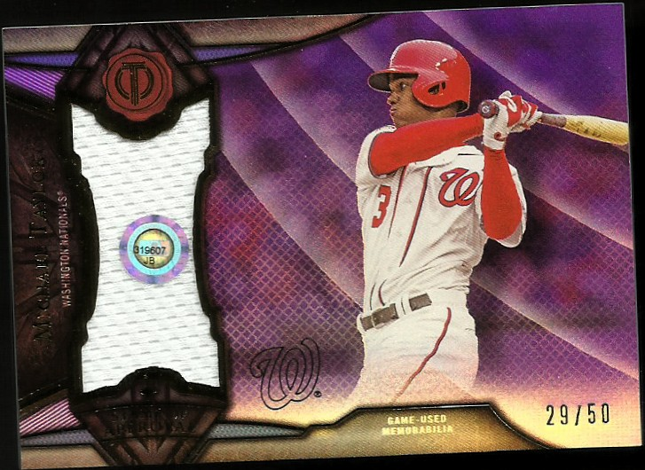 2016 Topps Tribute Stamp of Approval Relics Purple #SOAMT Michael Taylor
