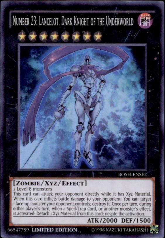 2016 Yu-Gi-Oh Breakers of Shadow Unlimited #BOSHENSE2 Number 23: Lancelot Dark Knight of the Underworld SR