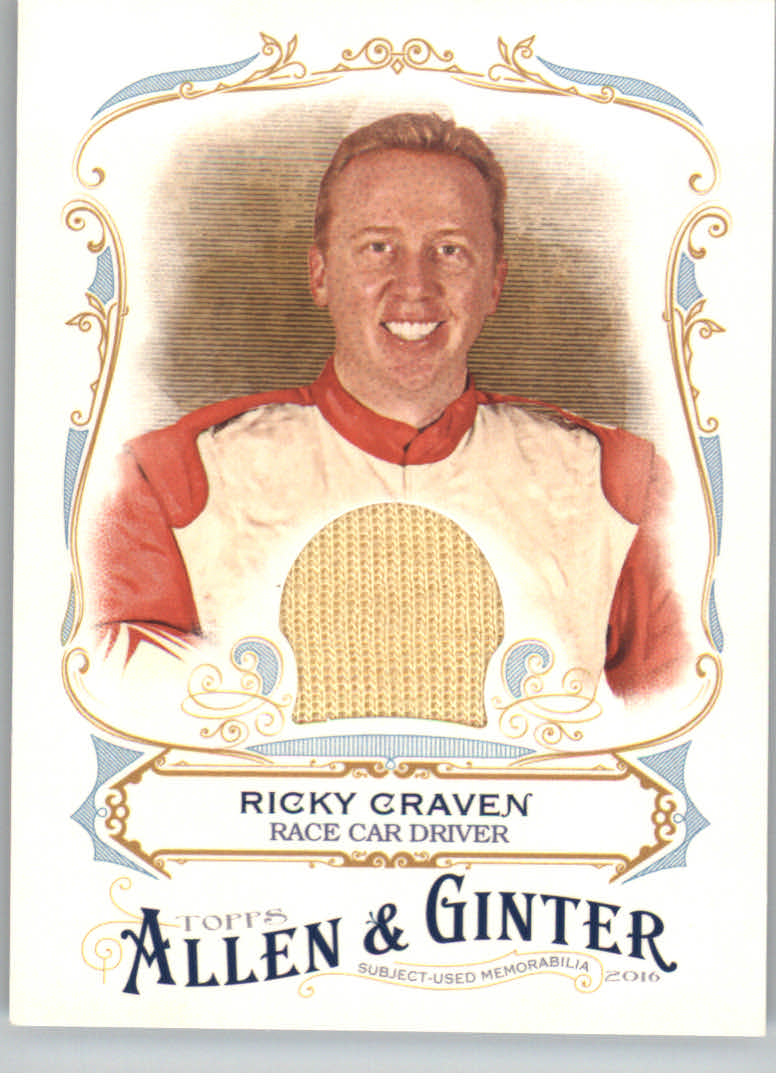 2016 Topps Allen and Ginter Relics #FSRARCR Ricky Craven A
