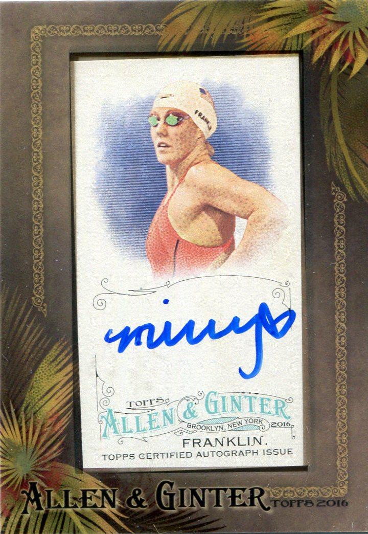 2016 Topps Allen and Ginter Framed Mini Autographs #AGAMFR Missy Franklin