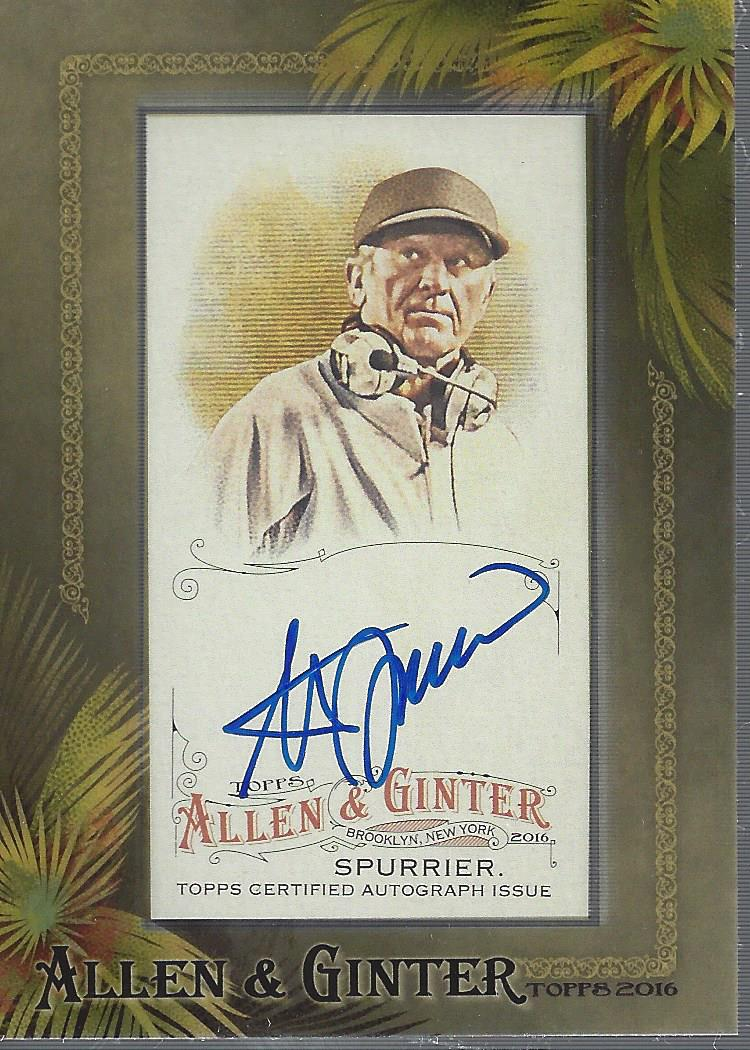 2016 Topps Allen and Ginter Framed Mini Autographs #AGASS Steve Spurrier