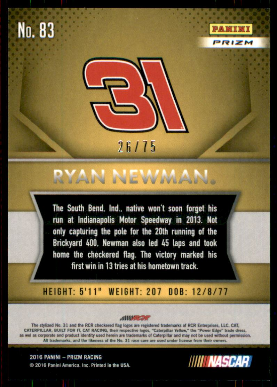 2016 Panini Prizm Racing Prizms Parallel Red White Blue RYAN NEWMAN #83