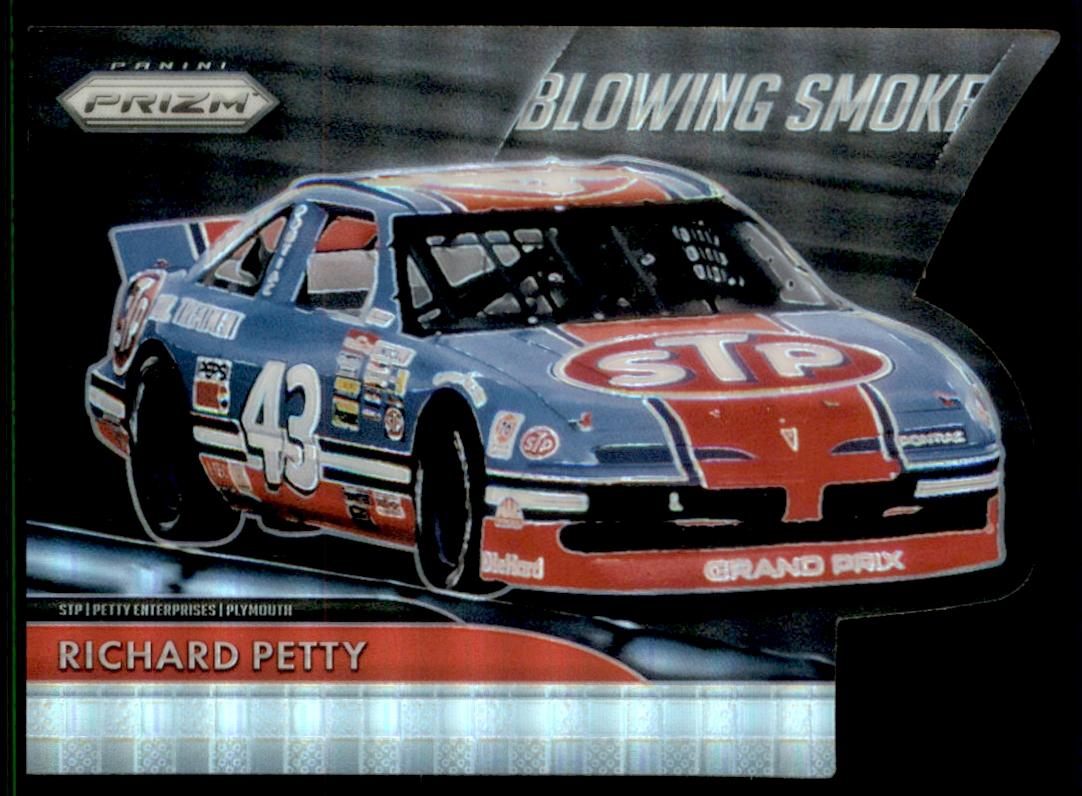 2016 Panini Prizm Racing Blowing Smoke Die-Cut Insert #8 Richard Petty