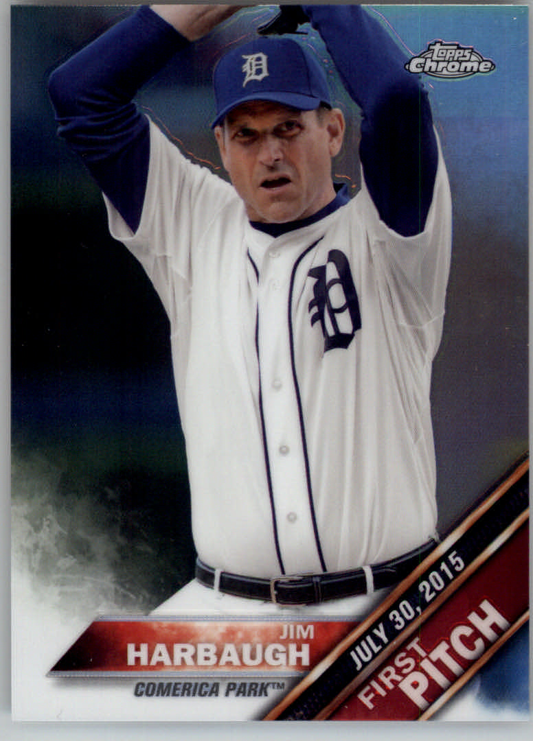 2016 Topps Chrome First Pitch #FPC16 Jim Harbaugh