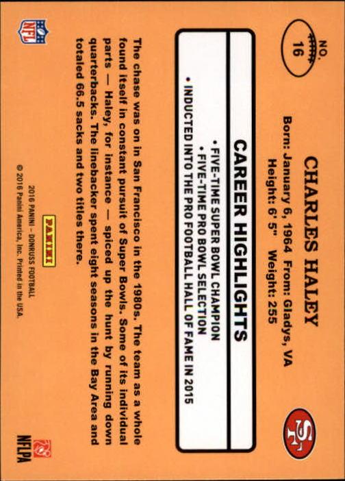 0ffa540311 2016 Donruss 1987 Classics  16 Charles Haley