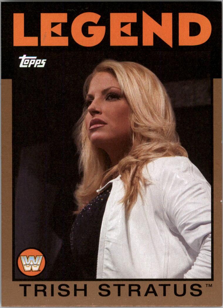 Trish stratus #108 WWE Heritage 2016 TOPPS TRADING CARD