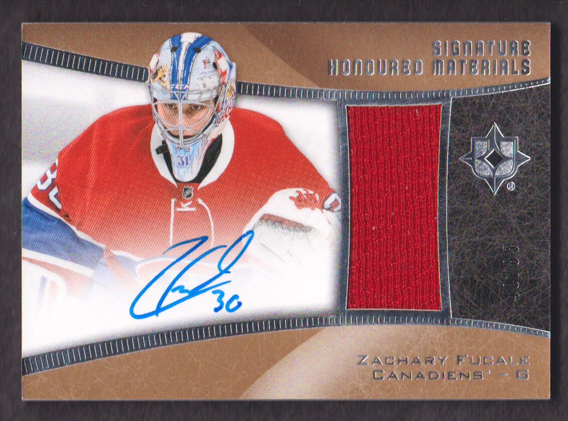 2015-16 Ultimate Collection Signature Honoured Materials #SHMZF Zachary Fucale/85