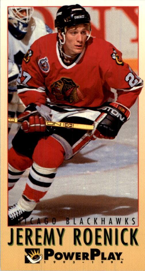 1993-94 PowerPlay Chicago Blackhawks Hockey Card  54 Jeremy Roenick ... 5876d149b