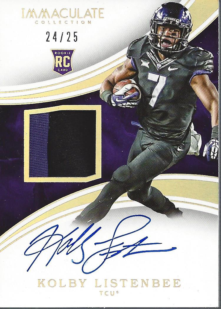 Details about 2016 Immaculate Collegiate Immaculate Auto Patch Gold Kolby Listenbee Jersey/25